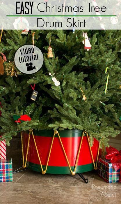 Easy Christmas Tree Drum Skirt Video Tutorial Nutcracker Christmas Tree Metal Christmas Tree Simple Christmas Tree