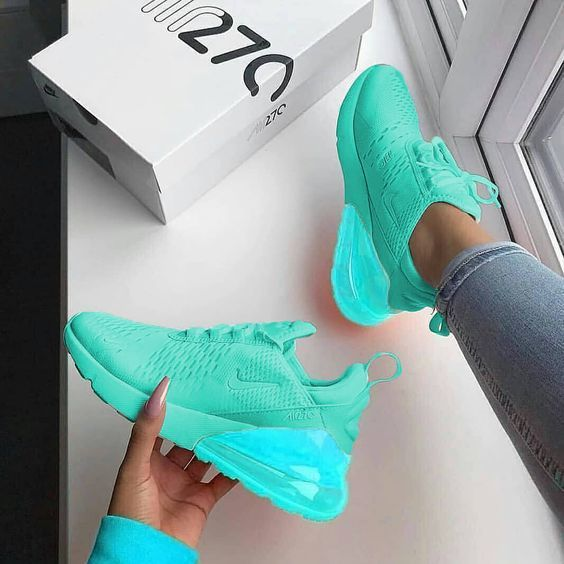 I think that such bright sneakers should be in every ...