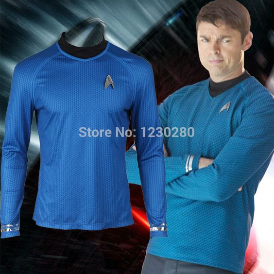 US $55.05 Star Trek TOS Cosplay Kostüm Kapitän Kirk Shirt Gelb Spock Blau  Uniform Red #Star #Trek #Cosplay #Kostüm #Kapitän #Kirk #Shirt #Gelb #Spo…