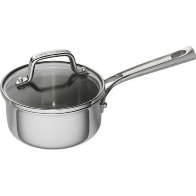 Emeril 1 Qt Tri Ply Stainless Steel Covered Saucepan Stainless Steel Stove Stainless Steel Steel