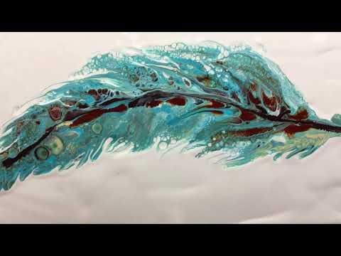 Feather Pour Art Painting Love This Acrylic Pouring