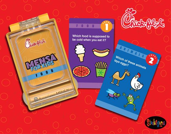 Chick fil-a Mensa for Kids Card Collection