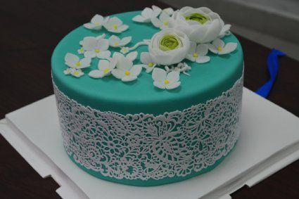 Art Nouveau SLM02 Large Silicone Lace Cake Mat Intricate Flower Mould Pattern