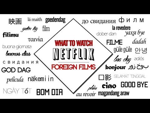 Some Netflix suggestions. This month we discuss Foreign Films. I hope you give one of these a try!