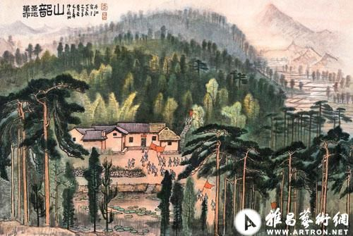 The final artist in the list is contemporary Chinese artist Li Keran whose work made $115 million in sales in 2011, the painting pinned here is one of the artist's great masterpieces ' Shaoshan'
