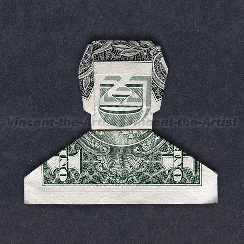 Dollar Origami SMILING DUDE Great Gift  Man by VincentTheArtist, $9.95: