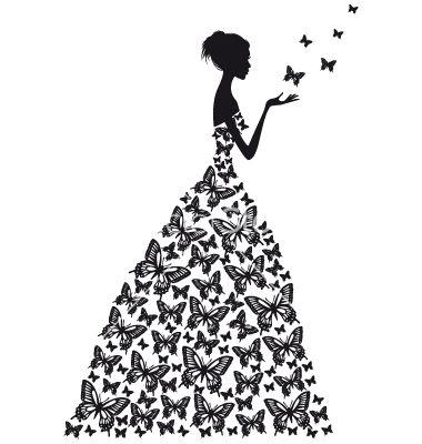 Butterfly woman... Vectorstock Media