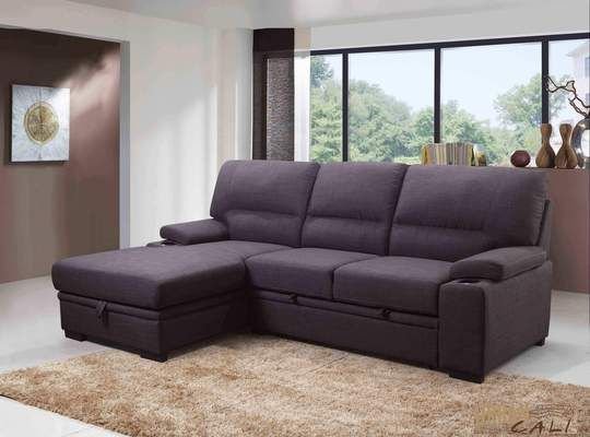 Anaheim Condo Sleeper Sectional Sofa Bed With Storage Chaise