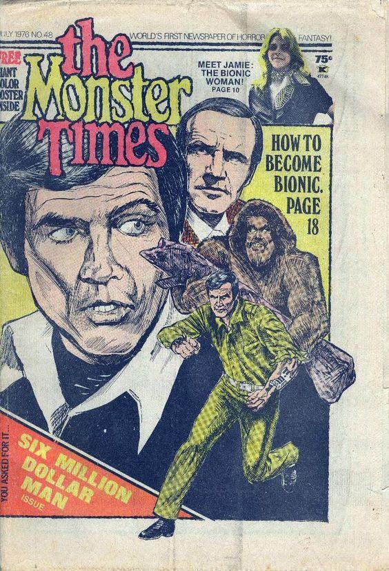 "The Six Million Dollar Man ""The Monster Times"" magazine"