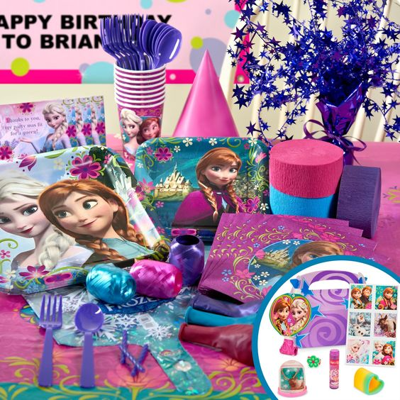 Frozen birthday party supplies - Disney's Frozen birthday party ideas