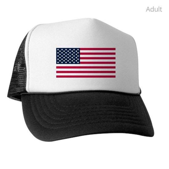 License Plate American Flag Trucker Hat By Politacs7 Cafepress Trucker Hat American Flag Trucker Trucker