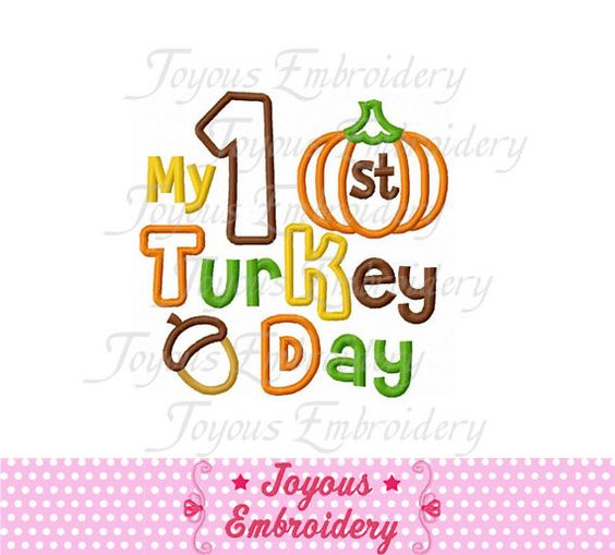 Instant Download Thanksgiving My  st Turkey