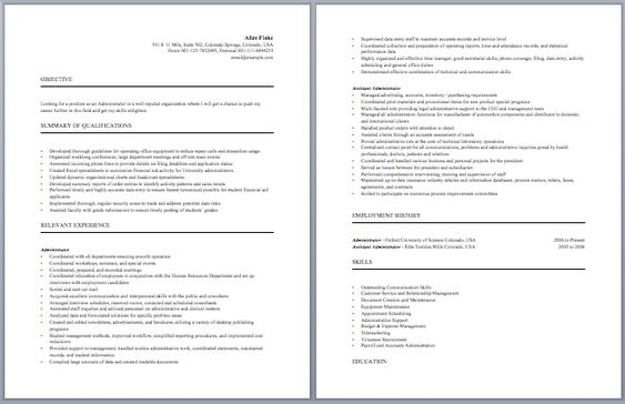 University Administrator Resume Administrative Resume Samples - army recruiter resume