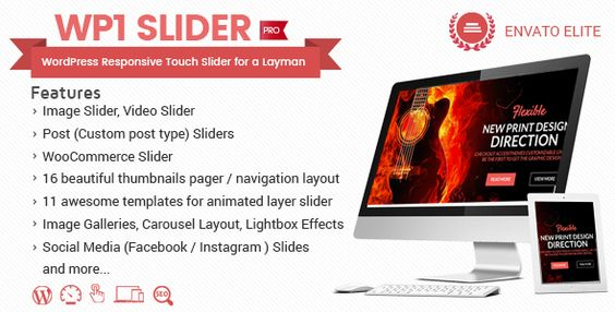 Free Download WP1 Slider Pro v1.0.1 WordPress Responsive Touch Slider for a Layman