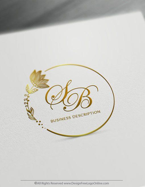 Free Vintage Logo Maker Create Your Own Flowers Logo Design Wedding Logo Design Flower Logo Design Fashion Logo Design