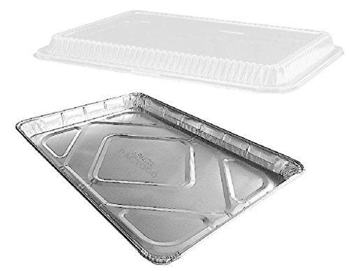 Half 1 2 Size Sheet Cake Aluminum Foil Baking Pans W Clear Dome Lids Aluminum Foil Pans Aluminum Foil Sheet Cake Pan