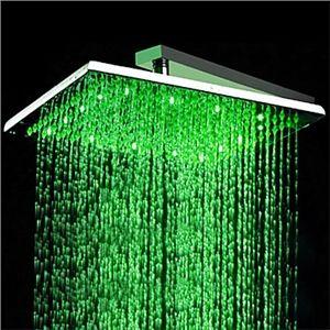 Zeige Details für 12-Zoll-Edelstahl-Duschkopf mit Farbwechsel LED-Licht