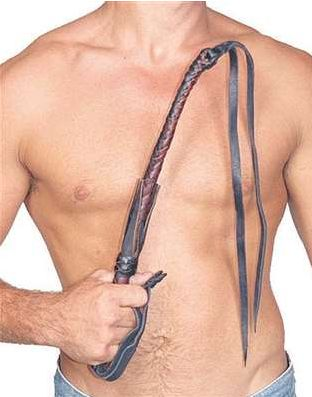 Leather quirt / personal flogger if that is your preference. Over 24 inches Long and made with double 12 inch leather ends.
