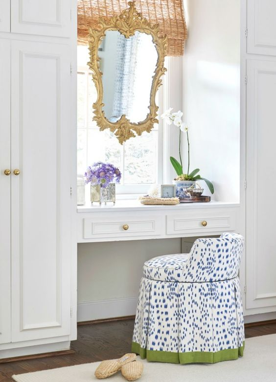 Love the mirror hung in the window.