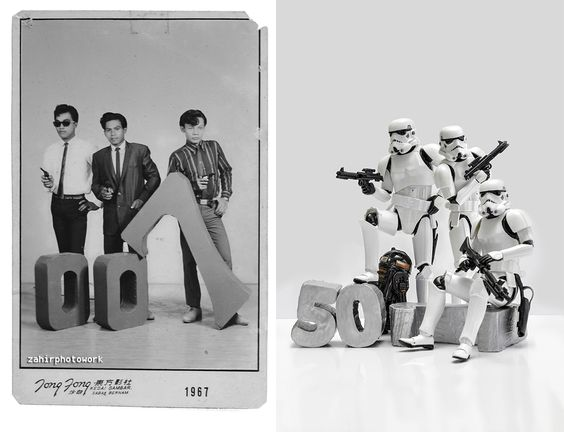 I Used My Star Wars Toys To Recreate Scenes From My Family Old Photos | Bored Panda