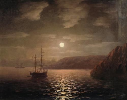 Lunar night on the Black sea - Ivan Aivazovsky