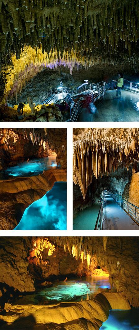 Gyokusendo Okinawa Japan  Okinawa World is the largest theme park of Okinawa Prefecture and presents the history, culture and nature of the island in one place. The most visited attraction is Gyokusendo: a 5,000-meter long cave formed about 300,000 years ago.  850 meters of this cavern are open to the public: visitors can walk in the caves evocatively lit and gape osservanfdo the spectacular stalactites and stalagmites.