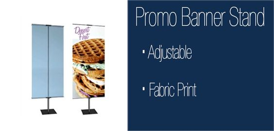 The Promo Banner Stand is a great indoor display for a variety of uses. This display is commonly seen in retail environments, shopping malls, and other locations to display signage.