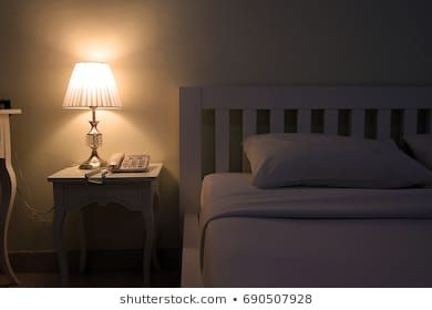 Lamp In Bedroom At Night Lamp Background Bed Bedroom