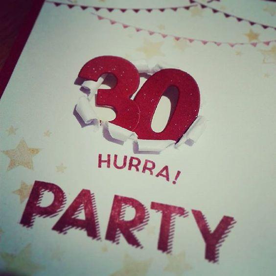 Yay, we're gonna party - bigly ;-) Es wird gefeiert mit #geburtstagshurra! #stampinup #burstthroughcard #cardmaking #kartenbasteln
