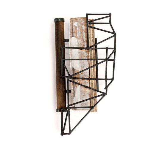 Stephanie O Leary, Middlesex University, London - 'Roof Truss Brooch' in wood, steel and brass