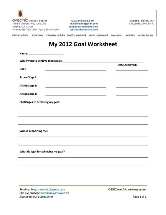 Printables Wellness Worksheets worksheets health and wellness on pinterest to charge of today it difficult