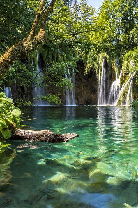 Plitvice Lakes National Park in Croatia. Plitvice Lakes National Park is a must add to your Croatia itinerary.