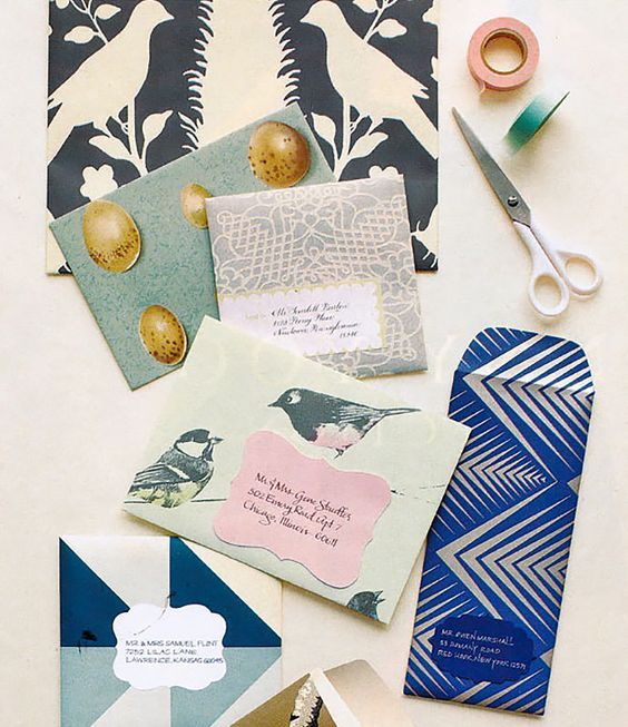 DIY Wallpaper Envelopes via Camille Styles:
