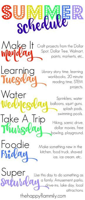 Our Weekly Summer Schedule. Summer schedule for kids. Summer schedule for toddlers. What to do this summer. Summer bucket list.