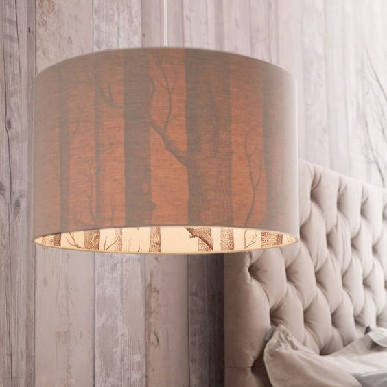 Woods Silhouette Linen Lampshade from www.notonthehighstreet.com this is perfect for the good fortune or elders areas!