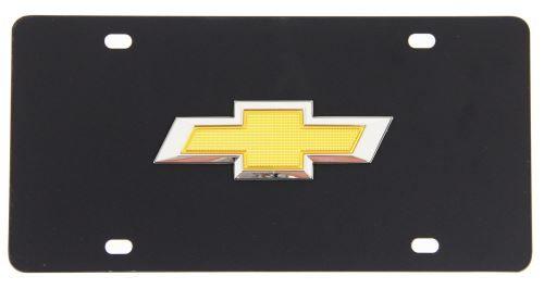 Chevy Logo Black plastic License Plate Frame