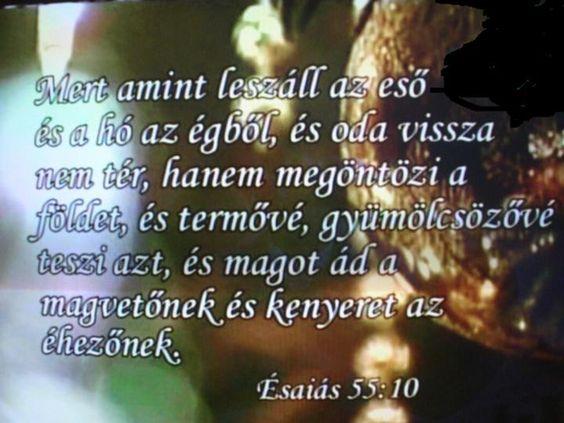 Ézsaiás 55:10,
