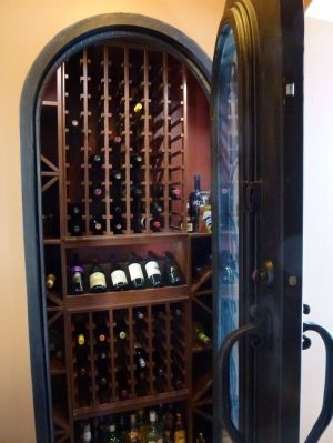 Turn your front closet into a wine cellar another project for Turn closet into wine cellar
