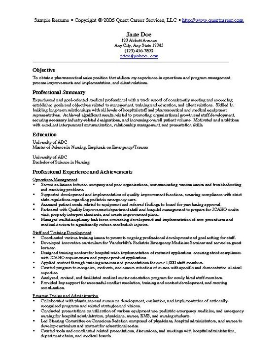 job resume examples - A Sample Of Resume