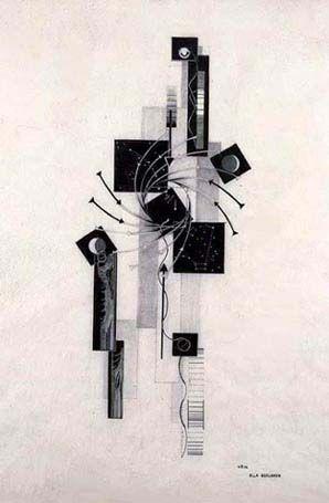 German abstract artist, Ella Bergmann- Michel (1896– 1971)
