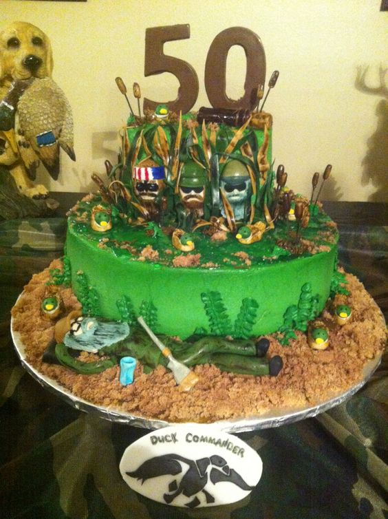 I made this Duck dynasty cake for my dads 50th birthday. Check out & follow my Facebook & Instagram  at sugarspellcakes  :):):)