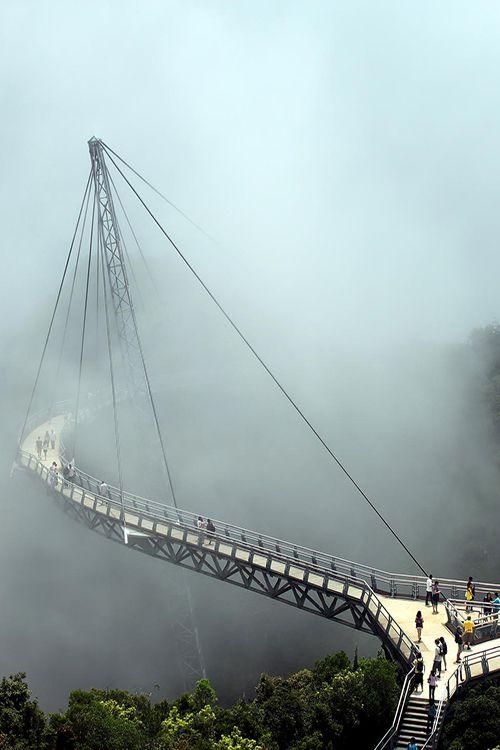 Misty walk - Langkawi Sky Bridge in Langkawi island, Malaysia