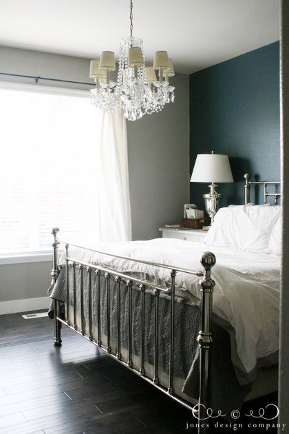 Our House Refresh New Floors White Walls Dark Wood Girls Room Chandeliers And Dark Accent