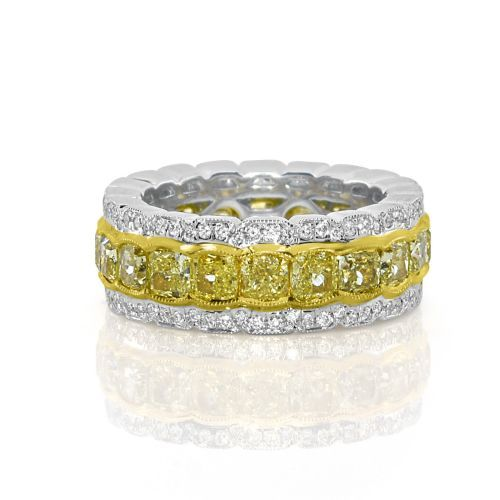 Real 6 43ct Natural Fancy Yellow Diamonds Engagement Ring 18k Solid Gold Fancy Yellow Diamond Engagement Rings Pink Engagement Ring Yellow Diamond