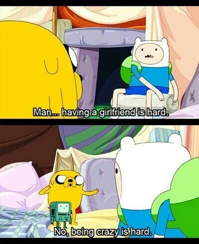 """Adventure Time..this episode was hard to watch. Finn has a whole life in the pillow world. He has a wife, children, a home...he loses one whole arm in his quest to get back, and eventually """"dies"""" there...surrounded by love..."""