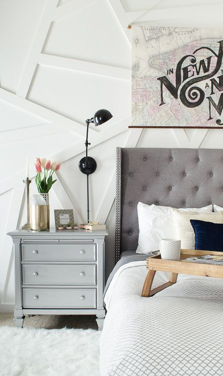 Best Silver Nightstand Modern And Glam Bedroom On Pinterest 640 x 480