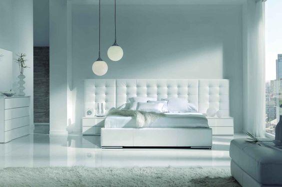 Bett ''Monaco'' im weißen Schlafzimmer - GAMAMOBEL