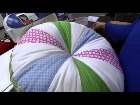 Almofada em patchwork de Gomos - Maria Adna Ateliê - Cursos e aulas de patchwork - Almofadas - YouTube