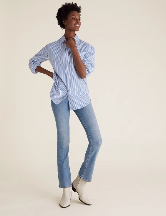 High Waisted Flared Jeans, £29.50, M&S