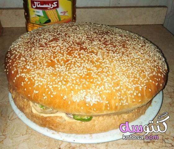 طريقة عمل ساندوتش برجر الدجاج بالمايونيز Food Hamburger Bun Hamburger